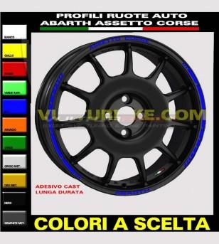 Perfiles adhesivos para ruedas de coche abarth fiat