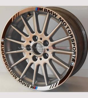 Profili Adesivi Motorsport - Ruote Auto BMW