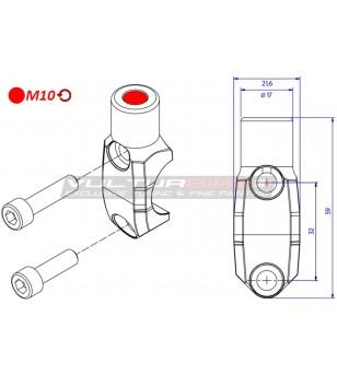 Cavallotto pompe Brembo - foro specchio filettatura M10 sinistra