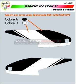 Customizable stickers for side bags - Ducati multistrada DVT