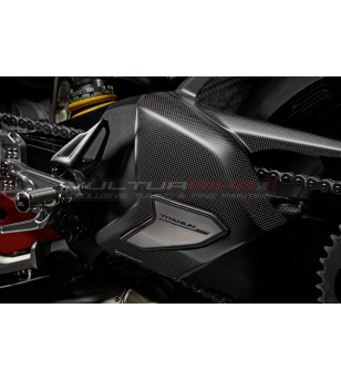 Carbon and titanium swingarm cover - Ducati Panigale V4