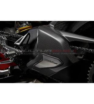 Cover forcellone in carbonio e titanio - Ducati Panigale V4