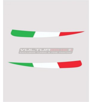 Italian tricolor flags for fins - Ducati Panigale V4 / V4s / V4R