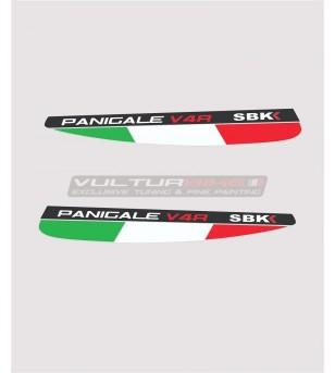 Italian tricolor flags for fins - Ducati Panigale V4 / V4s / V4R