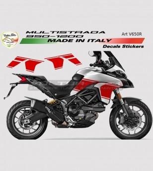 Side Fairings Stikers' Kit - Ducati Multistrada 950/1200 DVT