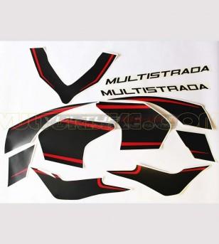 Stickers' kit brand new design r/b - Ducati Multistrada 1200 2015/17