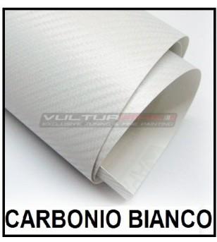 Pellicola adesiva per wrapping carbonio bianco
