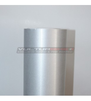 Adhesive wrapping film brushed matt aluminum