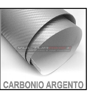 Adhesive wrapping film silver carbon