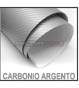 Pellicola adesiva per wrapping carbonio argento