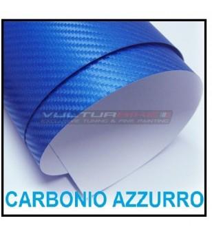 Pellicola adesiva per wrapping carbonio azzurro