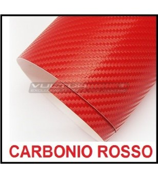 Pellicola adesiva per wrapping carbonio rosso
