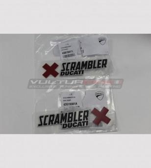 ORIGINAL Ducati Scrambler stickers 15x4 cm