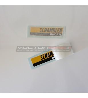 Pegatinas de color amarillo-negro Ducati Scrambler