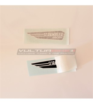 Coppia di adesivi logo Ducati Scrambler