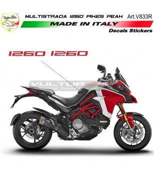Adesivi per fiancate laterali - Ducati Multistrada 1260 Pikes Peak