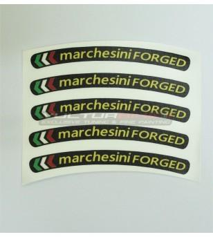 Adesivi universali per ruote bandierine Marchesini forged