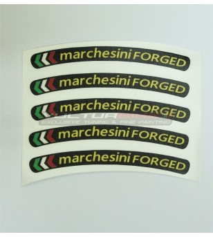 Universal stickers for wheels Marchesini forged