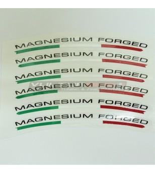 Pegatinas universales para las ruedas banderas magnesio forjado