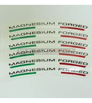 Universal stickers for wheels magnesium forged