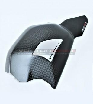 Copri forcellone personalizzato in carbonio con slider - Ducati Panigale V4 / V4S / V4R