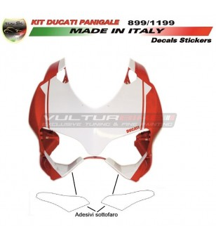 Under headlights stickers - Ducati Panigale  899 / 1199 / 959 / 1299