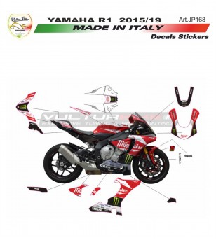 Kit completo adesivi replica Milwaukee - Yamaha R1 15/19
