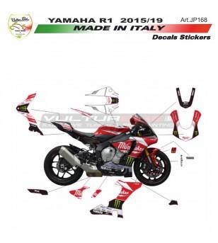 Milwaukee Réplica Pegatinas Kit completo - Yamaha R1 15/19