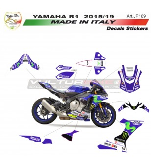 Kit completo adesivi replica MOTO GP Movistar - Yamaha R1 15/19