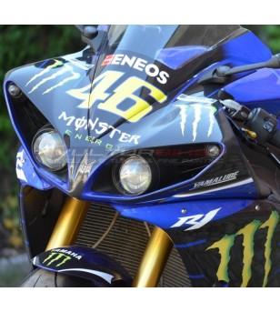 Kit complet d'autocollant de réplique de moto gp Monster - Yamaha R1 09/14