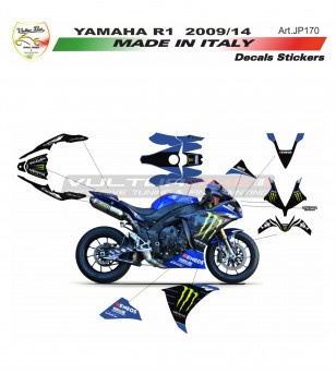 Kit completo adesivi replica MOTO GP Monster - Yamaha R1 09/14