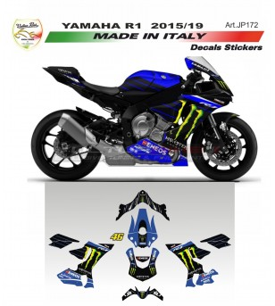 Kit completo adesivi replica MOTO GP Monster - Yamaha R1 15/19