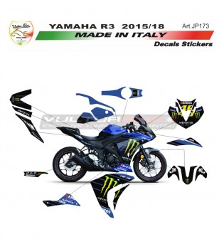 Kit completo adesivi replica MOTO GP Monster - Yamaha R3 15/18