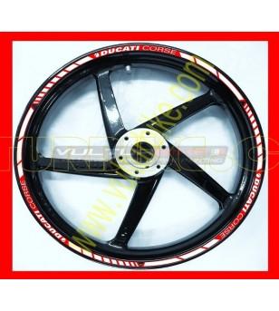 Ruedas de perfiles de pegatinas - Ducati Corse