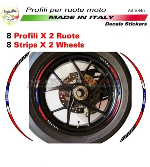 CORSE red blue stickers' kit for wheels