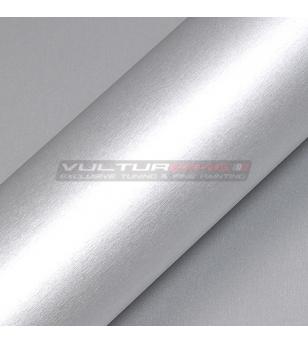 Pellicola adesiva per wrapping alluminio spazzolato satinato