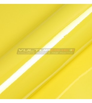 Adhesive wrapping film yellow
