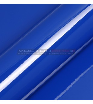 Adhesive wrapping film blue