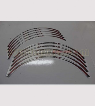 Profils autocollants roue rouge - Ducati Scrambler