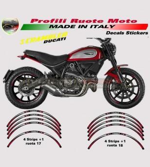 Profili Adesivi Ruote Rossi - Ducati Scrambler