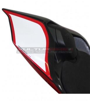 Autocollants blancs rouges pour Pigtail - Ducati Panigale V4 / V4R