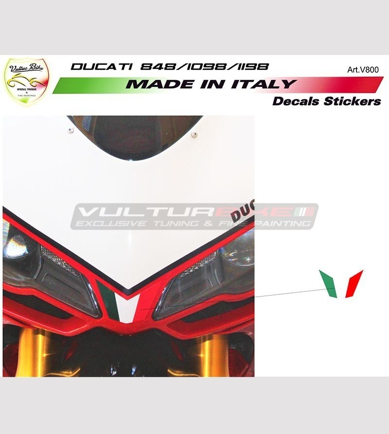 Flag stickers for front fairing - Ducati 848 1098 1198