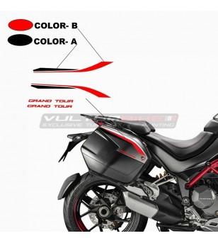 Adesivi per borse laterali Grand Tour Design - Ducati Multistrada 950 / 1260 / 1200 dal 2015