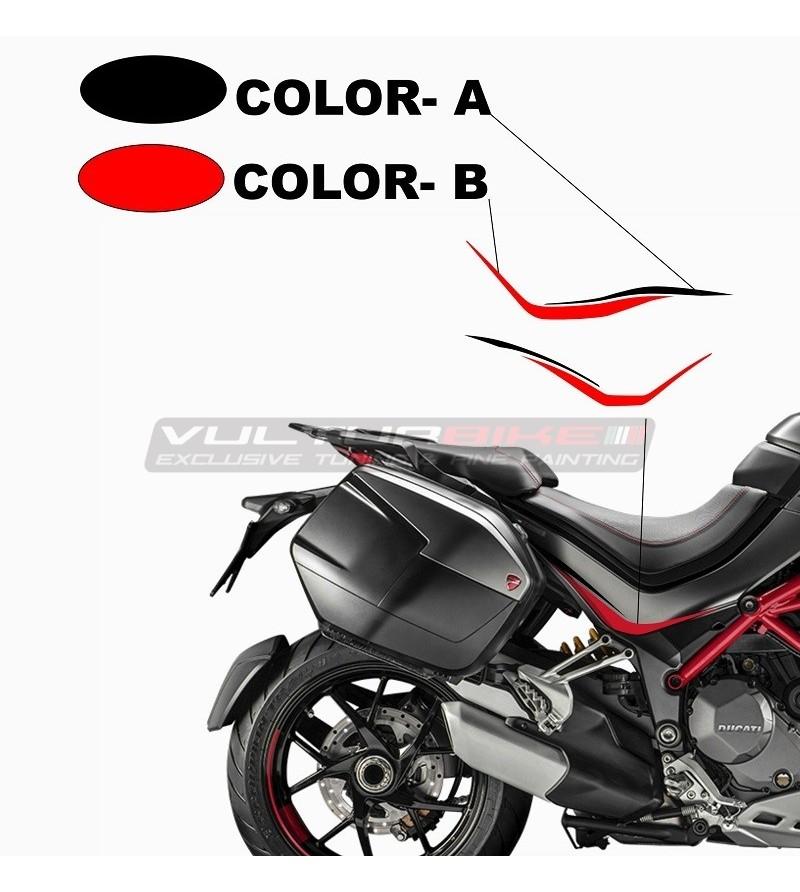 Grand Tour Design saddle pad stickers - Ducati Multistrada 1260 / 1200 from 2015