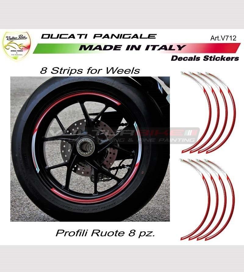 Kit adesivi profili per ruote Ducati tutti i modelli