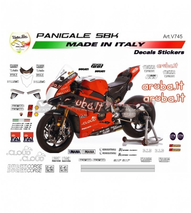 Stickers' complete kit SBK 2019 version - Ducati Panigale V4 / V4R /V2