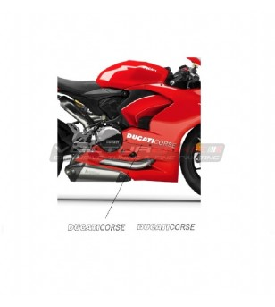 2 autocollants Ducati Corse de différentes tailles - Tous les modèles Ducati