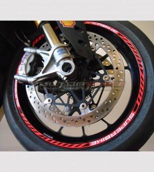 Kit de pegatinas de perfiles de ruedas personalizados - Ducati Superbike