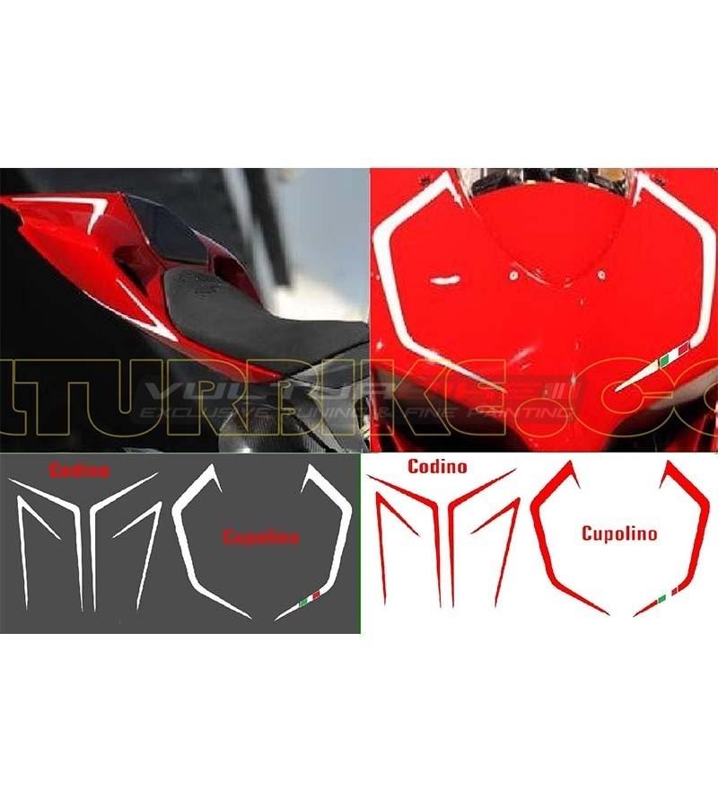 Tricolor Sticker Kit domo y codón - Ducati Panigale 899/1199