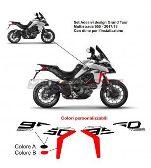 Adesivi design Grand Tour per carene laterali - Ducati Multistrada 950 17/18